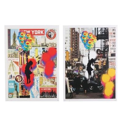 "Death NYC Pop Art Graphic Prints ""Balloon Girl,"" 2020"