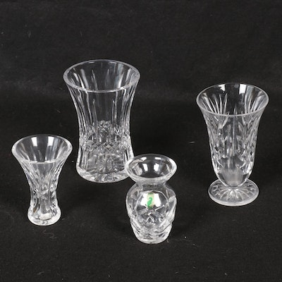 Waterford Cut Crystal Vases and Bud Vases
