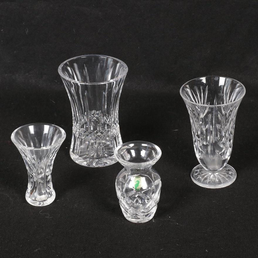 Waterford Cut Crystal Vases and Bud Vases