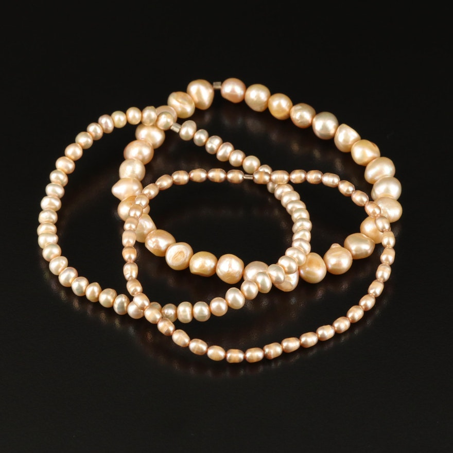 Expandable Pearl Bracelets