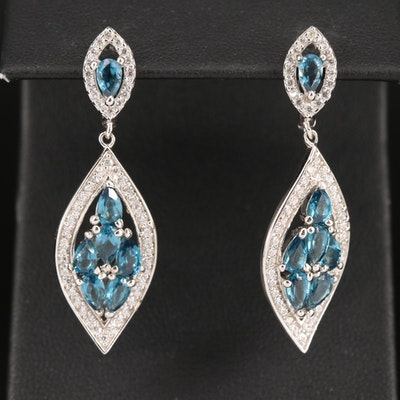 Sterling Cubic Zirconia Arabesque Earrings