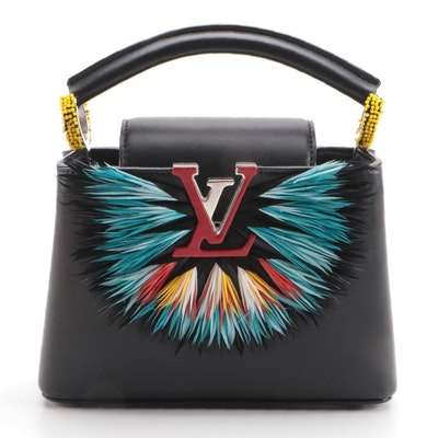 Louis Vuitton Capucines Mini Feather Burst Top Handle Bag