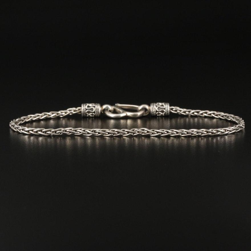 Sterling Wheat Chain Bracelet