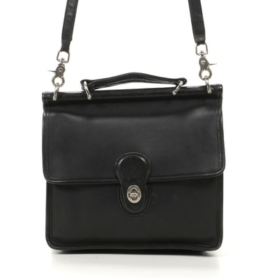 Coach Wilson Bag in Black Glove-Tanned Leather