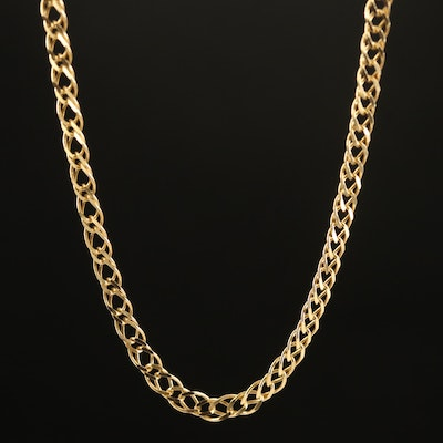 14K Double Curb Chain Necklace