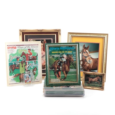 Affirmed Triple Crown Winner Collection, Pincay Autograph, Hair Photo, More