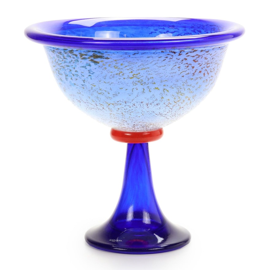 "Kosta Boda ""Cancan"" Art Glass Centerpiece Designed by Kjell Engman"