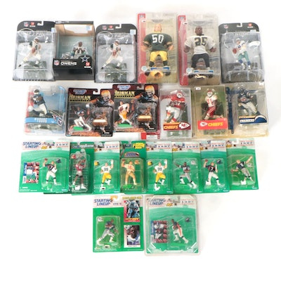 Twenty-Two Pro-Football Action Figures, Including Starting Lineup