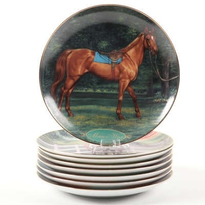 "Danbury Mint ""Champion Thoroughbreds"" Plate Collection Featuring Secretariat"