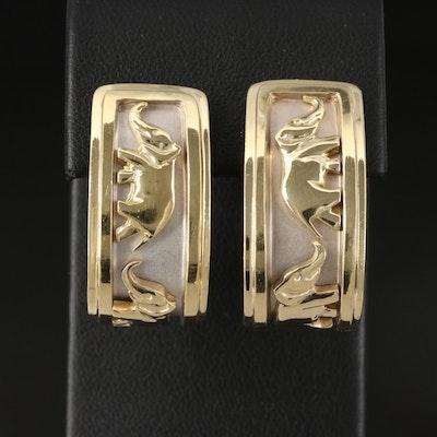 18K Elephant J-Hoop Earrings
