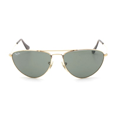 Bausch & Lomb Ray-Ban Fashion Metal 1 Aviator Sunglasses with Case