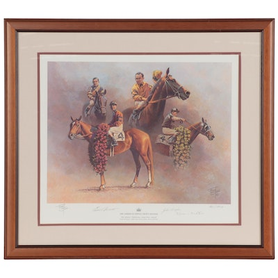 "Fred Stone Offset Lithograph ""The American Triple Crown"""