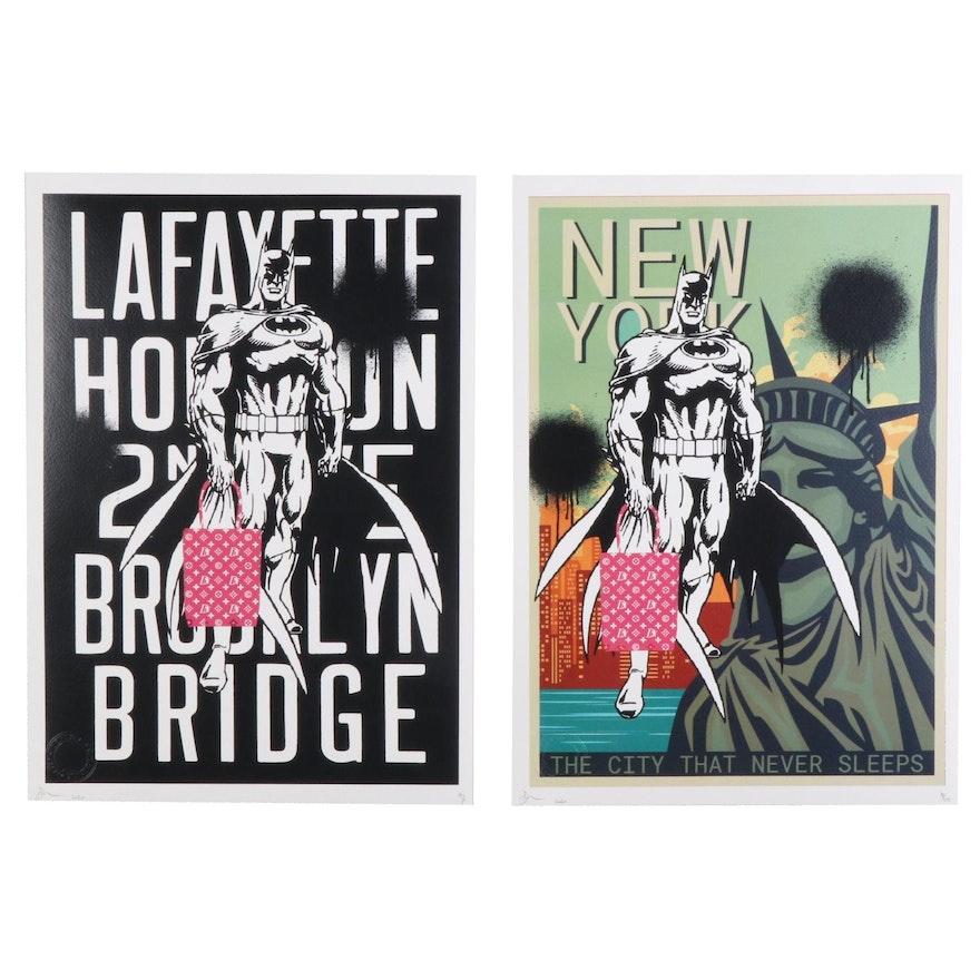 Death NYC Pop Art Graphic Prints Featuring Batman, 2020