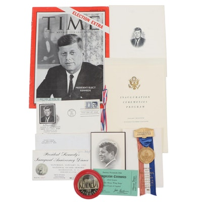John F. Kennedy Era Democratic Ephemera