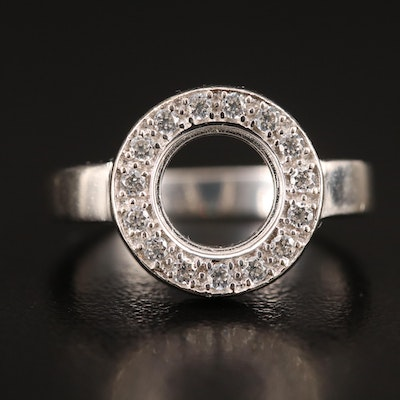 14K Cubic Zirconia Semi-Mount Ring