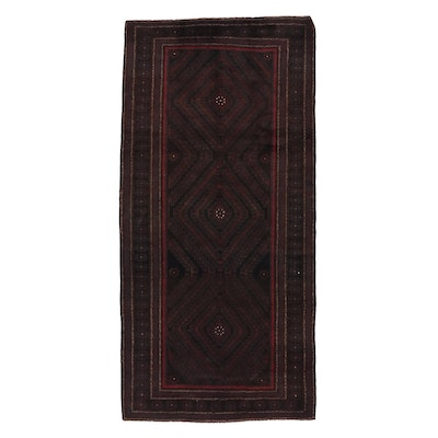 4'8 x 9'9 Hand-Knotted Afghan Baluch Wool Area Rug