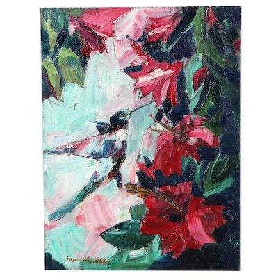 Serguei Novitchkov Impressionist Style Oil Painting, 21st Century