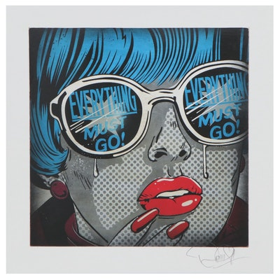 "Denial Pop Art Giclée ""Everything Must Go!,"" 21st Century"