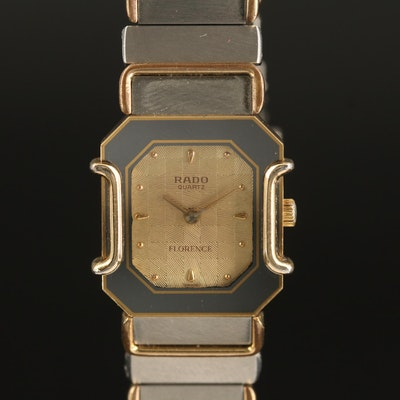 "Vintage Rado ""Florence"" Two-Tone Quartz Wristwatch"
