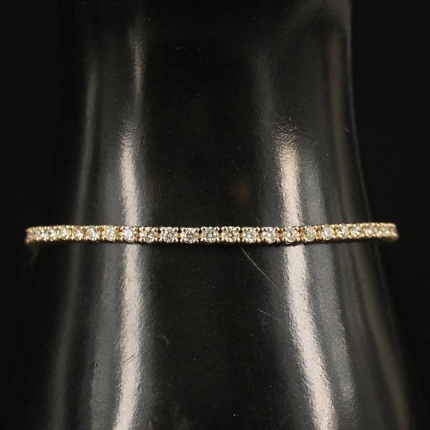 14K 3.02 CTW Diamond Tennis Bracelet