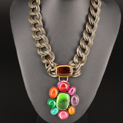 French Philippe Ferrandis Glass Necklace