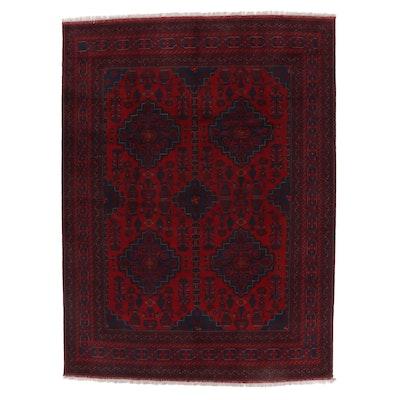 8'4 x 11'7 Hand-Knotted Afghan Kunduz Wool Area Rug