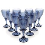 "Fostoria ""Monet"" Midnight Blue Wine Glasses, 1985–1986"