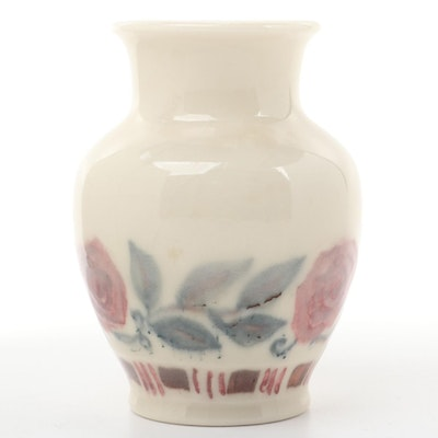 Rookwood Pottery Rose Motif Ceramic Vase, 1945