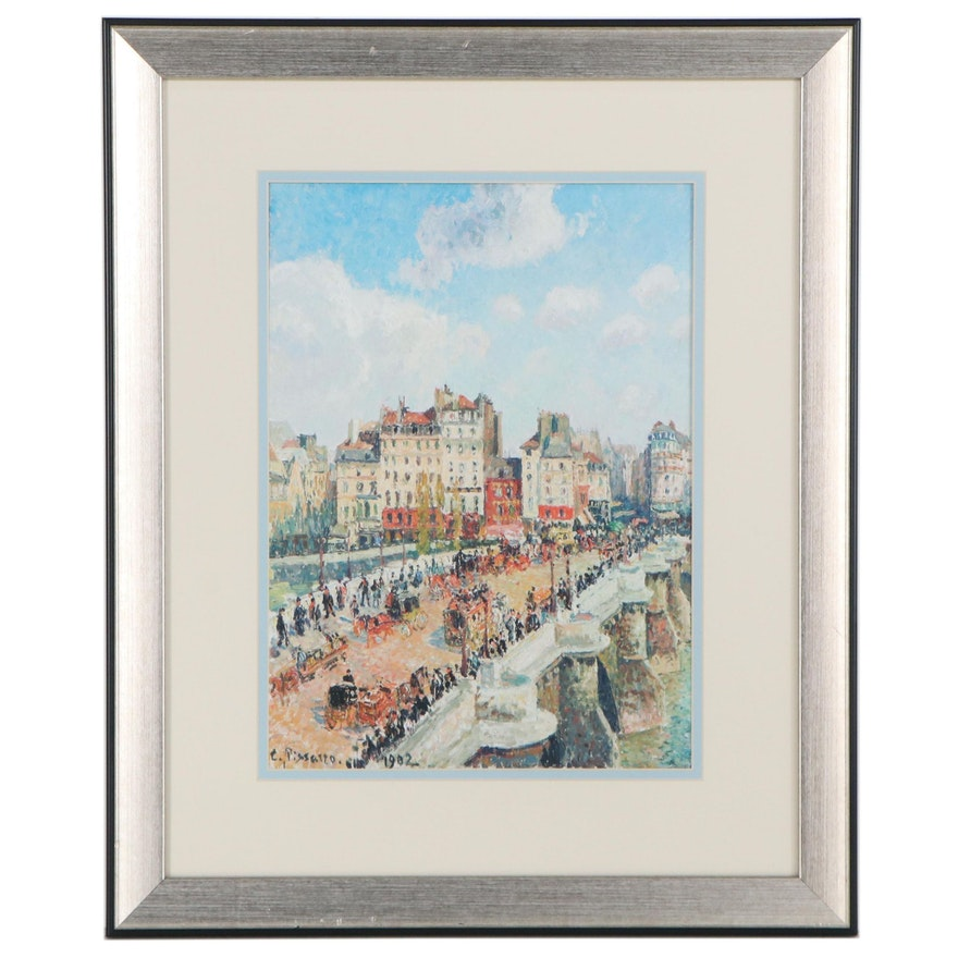"Offset Lithograph after Camille Pissaro ""Le Pont-Neuf"""
