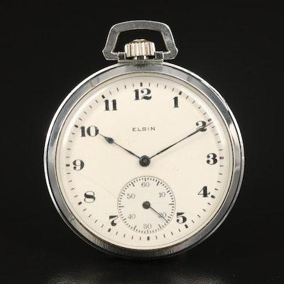 1919 Elgin Gold-Filled Open Face Pocket Watch