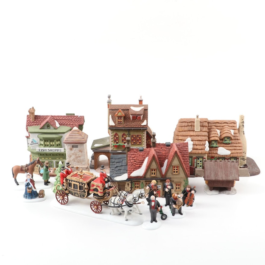 Department 56 Dickens' Village Series and Other Christmas Village Figurines