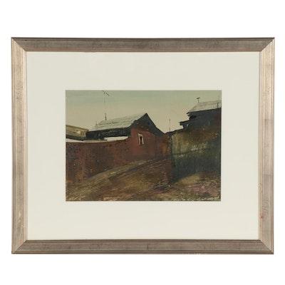 """Gouache Painting """"Urban Landscape IV,"""" 2008"""