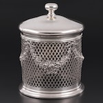 Tiffany & Co. Sterling Silver Biscuit Jar Overlay