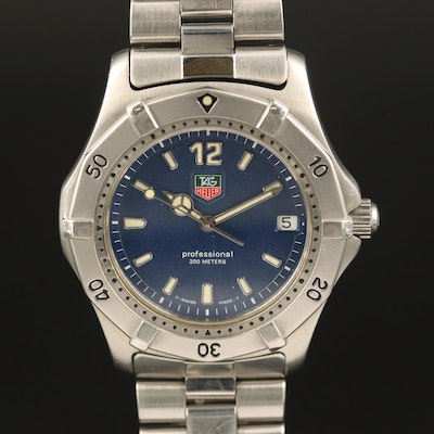 "TAG Heuer ""2000 Classic"" Stainless Steel Quartz Wristwatch"