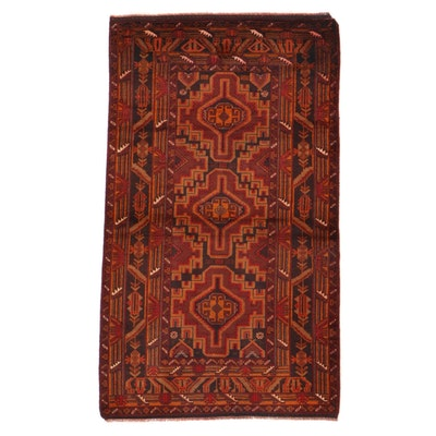 3'7 x 6'6 Hand-Knotted Afghan Baluch Area Rug