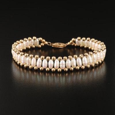 14K Semi-Baroque Pearl Bracelet