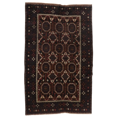 6'4 x 10'7 Hand-Knotted Afghan Baluch Wool Area Rug