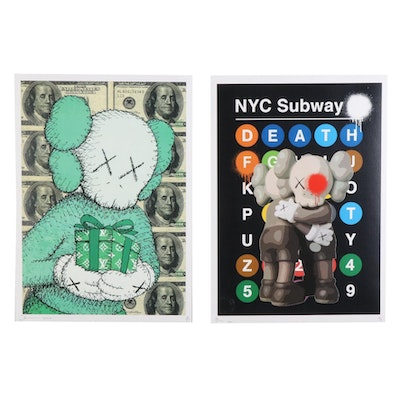 "Death NYC Pop Art ""Let's Hug"" and ""X100X Gift"" Graphic Prints, 2020"