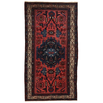3'6 x 6'8 Hand-Knotted Persian Malayer Area Rug