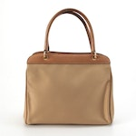 Gucci Handbag with Center Zip Pocket in Canvas and Leather