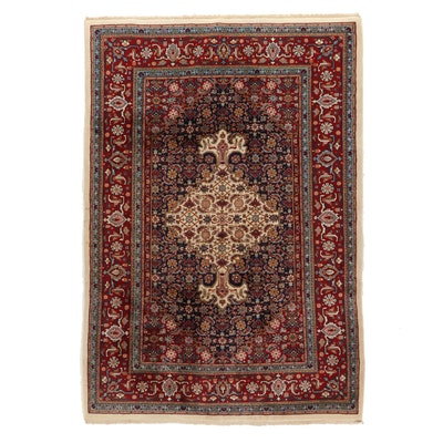 6'2 x 8'11 Hand-Knotted Indo-Persian Herati Area Rug