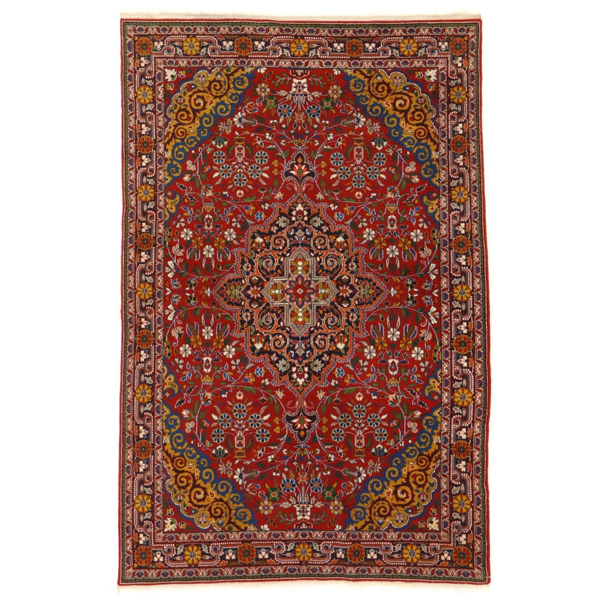 4' x 6'3 Hand-Knotted Persian Jozan Area Rug