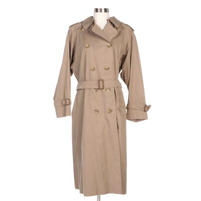 Burberrys Victoria Double-Breasted Gabardine Trench Coat