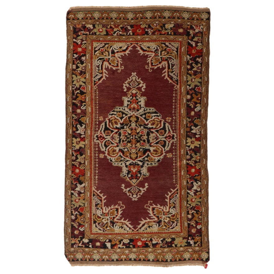 3'8 x 6'7 Hand-Knotted Persian Kurdish Area Rug