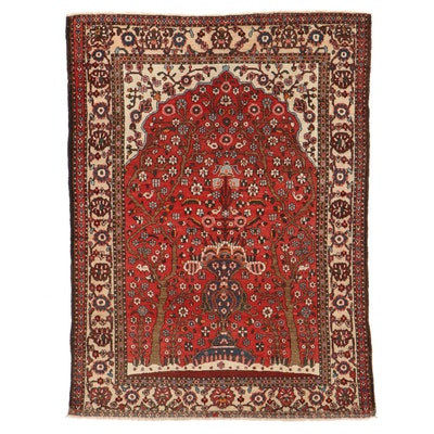 4'9 x 6'5 Hand-Knotted Persian Bakhtiari Tree of Life Prayer Rug