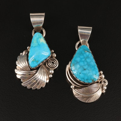 Western Morningstar Sterling Turquoise Pendants