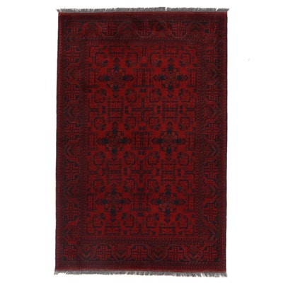 4'4 x 6'9 Hand-Knotted Afghan Kunduz Area Rug