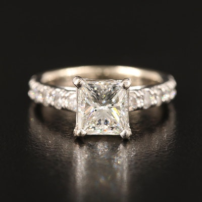 14K 1.98 CTW Diamond Ring with GIA Report