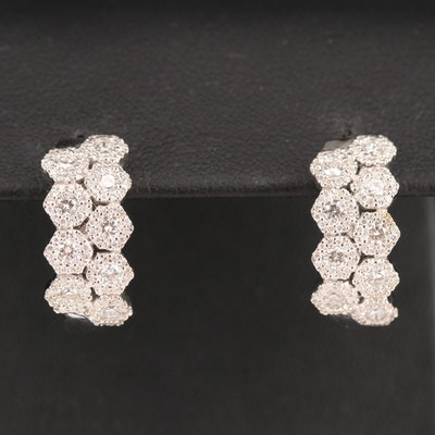 14K 1.32 CTW Diamond Hoop Earrings