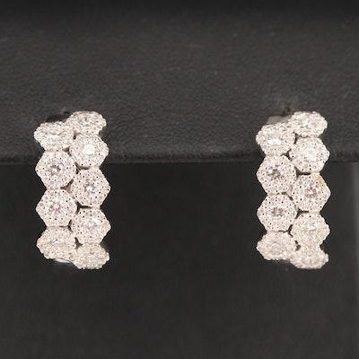 14K 1.32 CTW Diamond Hoop Earrings